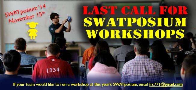 SWATposium workshops
